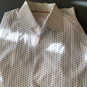 Eton Button up dress shirt with whale print
